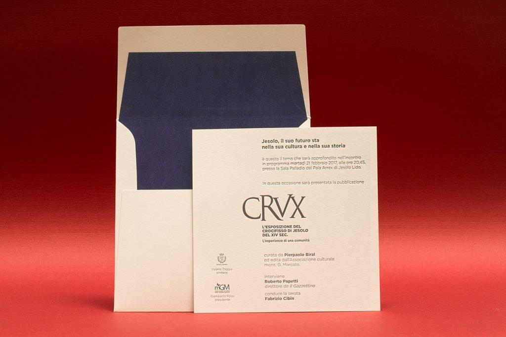 Invito-Evento-CRUX-stampa-in-letterpress-busta-foderata-in-velluto